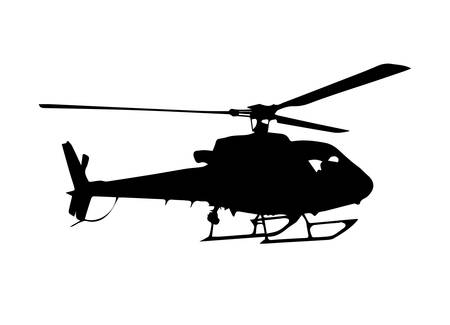 boeing: helicopter silhouette vector