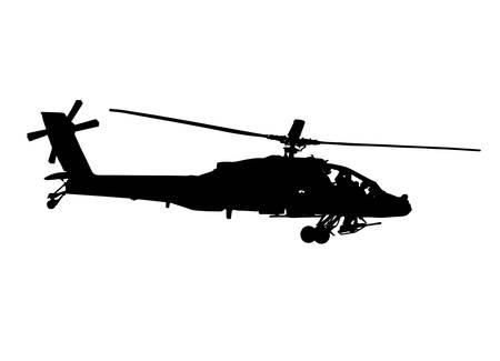 desert storm: helicopter silhouette vector