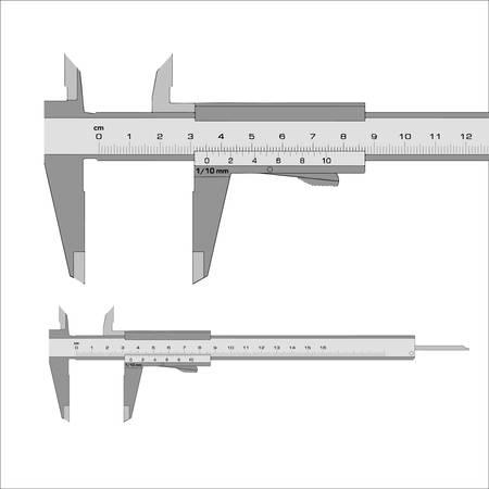 centimetre: caliper vector