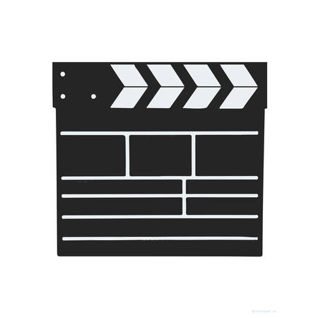 ready to cut: Film clapper vector
