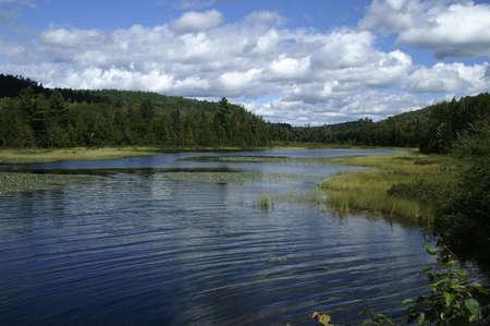 carpenter lake on sunny summer day Stock Photo