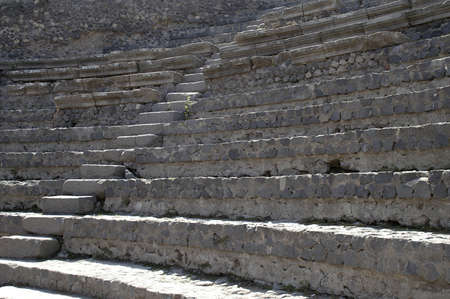 ancient seating of outdoor theatre Фото со стока