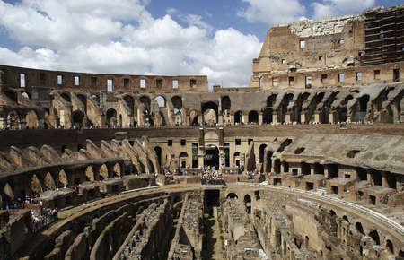 view of the inside of the roman colleseum