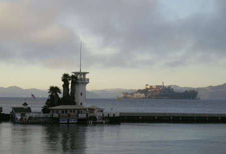 view of alcatraz from san francisco harbour