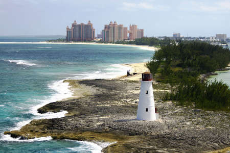lighthouse point with atlantis resort in background