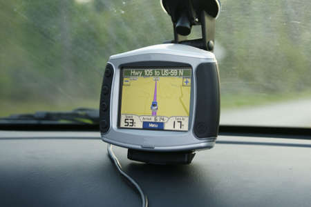 gps on car dash Stock Photo