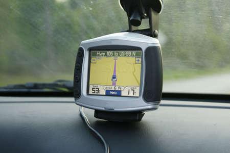gps on car dash Imagens
