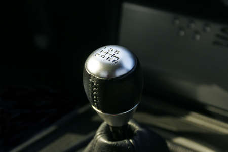 reverse: 6 speed gear shift Stock Photo