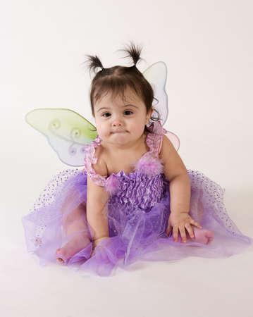 beautiful baby girl in princess fairy costume