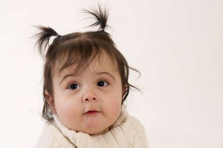 adorable baby girl portrait photo