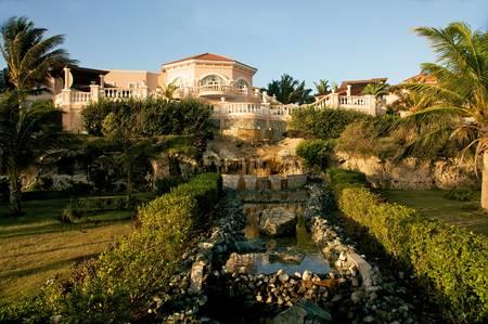 tropical resort in paradise
