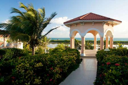tropical gazebo in paradise