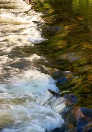 rapids flowing over underwater rocks in river