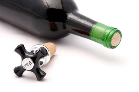 red wine bottle stopper Reklamní fotografie