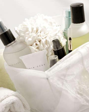 produits de beaut�: produits de soins de la peau pour le visage Banque d'images