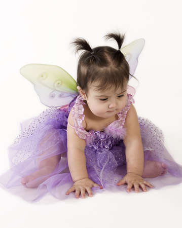 beautiful baby girl in princess fairy costume