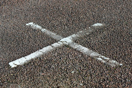 x marks the spot: Panted X on tarmac road