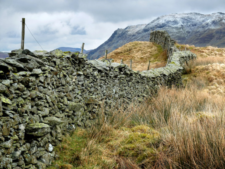 lake district: Dry stone wall in the English Lake District