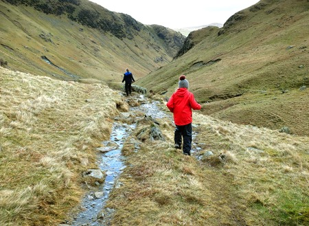 fell: Two children fell walking in the English Lake District