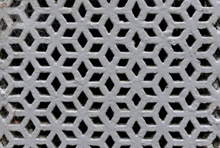 grille: Victorian perforated cast iron decorative grille Stock Photo