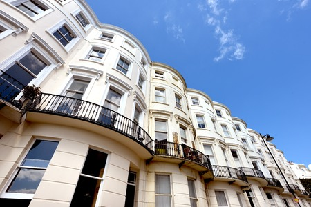 bow window: Bow fronted Regencey (georgian) houses in Brighton, UK