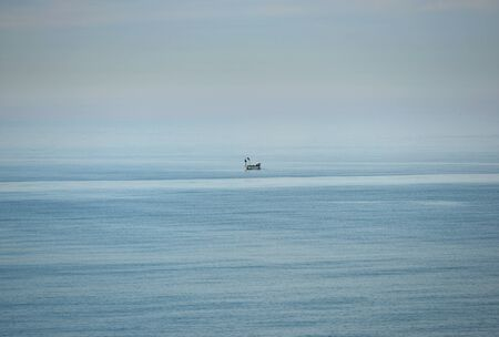 inshore: Inshore fishing boat in English Channel