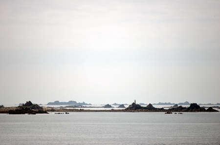 marys: Rocky islands and reefs around St Marys, Tresco, Scilly Isles Stock Photo