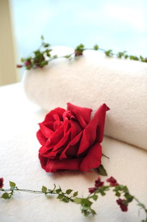 spar: Rose laying on a bed i a spar treatment room