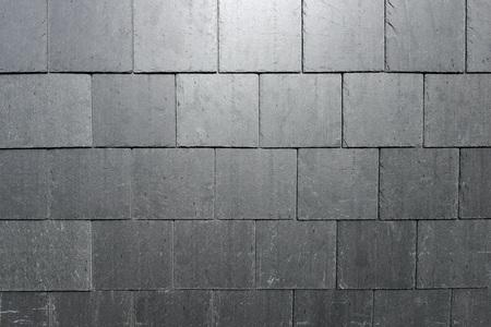 hung: Slate tile hung walls on new building Stock Photo