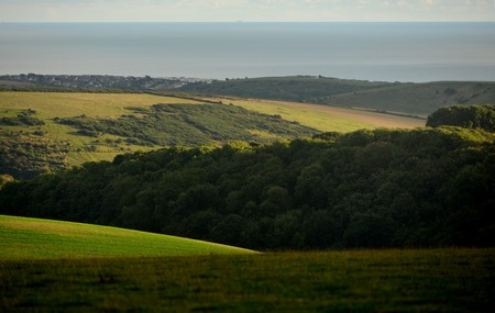 English countryside showing the south downs national park. Stock Photo