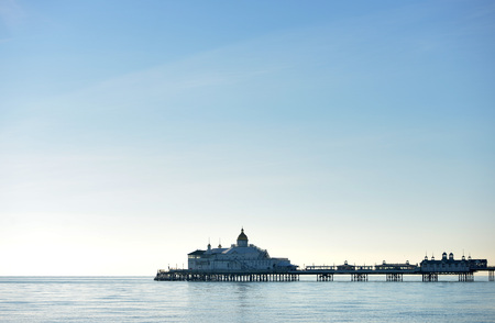 Eastbourne pier in calm sunny weather, a Stock Photo
