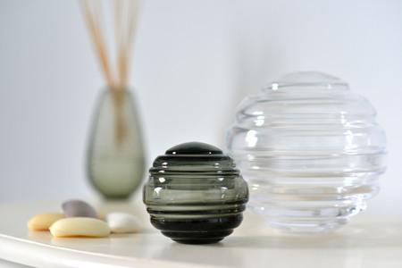 Round Decorative Glass Storage Jars In A Bathroom Stock Photo Impressive Decorative Glass Storage Jars