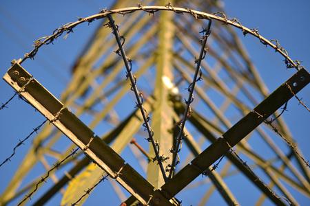 metal grid: electricity pylon detail