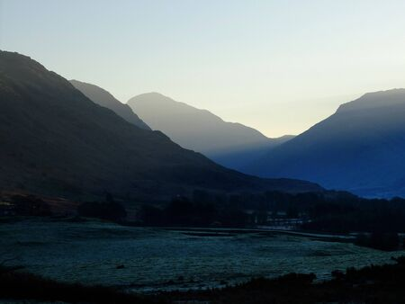 cumbria: Frosty morning in Wastdale in the English Lake District.