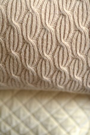 Close up of cushion showing textural detail