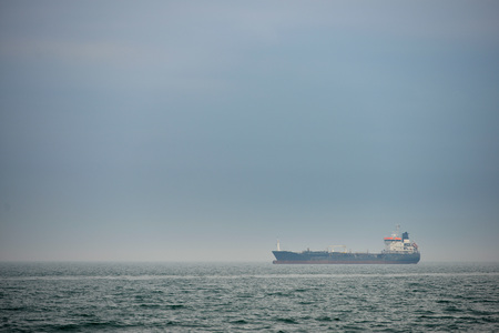 Container ship in the Solent, near Portsmouth, UK Stock Photo