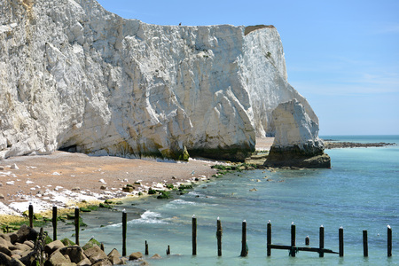 Chalk cliffs at Seaford Head, East Sussex. Stock Photo