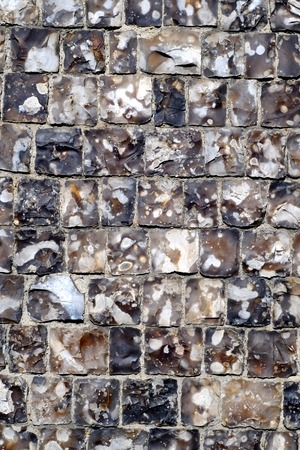 Square knapped flint bricks on Georgian Church, Lewes