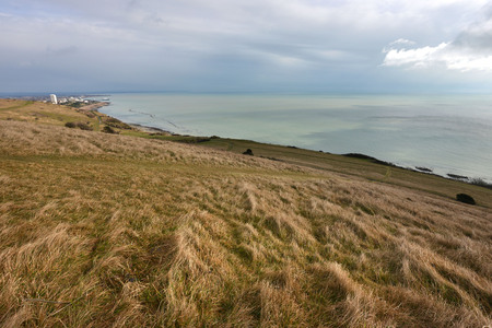 Coastal South Downs way near Eastbourne, East Sussex