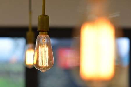 Edison squirrel cage light bulbs with brass fitting