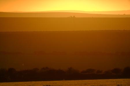 South Downs way near Devils Dyke, Brighton, Sussex, UK at sundown. Stock Photo - 119355006