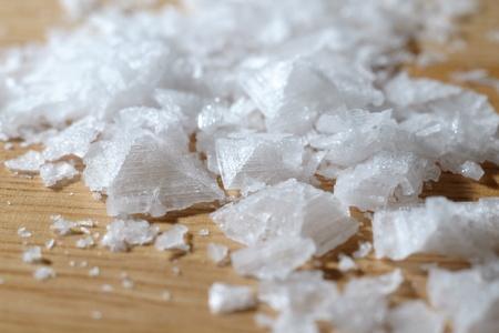 Close up of sea salt crystals, sodium chloride