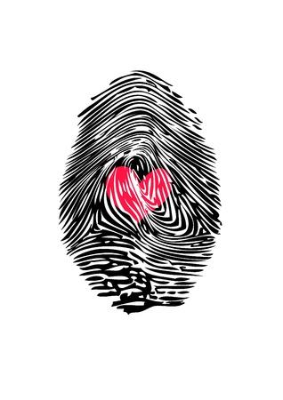 adn: Huella digital con el corazón