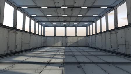 futuristic interior: Futuristic storage