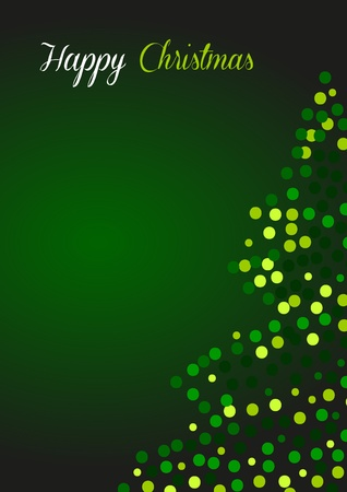 blessedness: Christmas greeting card in green