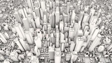 Futuristic city photo