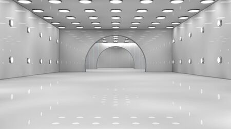 Futuristic interior photo
