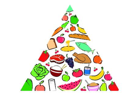 piramide nutricional: Pirámide nutricional