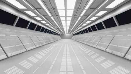 Futuristic corridor Stock Photo