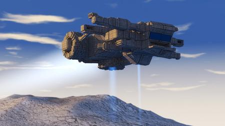 3d UFO photo